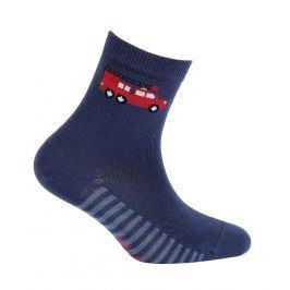 Chlapecké vzorované ponožky GATTA HASIČI tmavě modré Velikost: 24-26