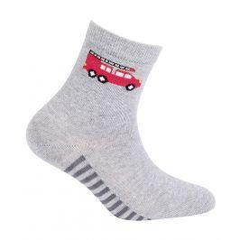 Chlapecké vzorované ponožky GATTA HASIČI šedé Velikost: 21-23
