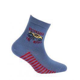 Chlapecké ponožky s obrázkem GATTA OFF ROAD modré jeans Velikost: 21-23