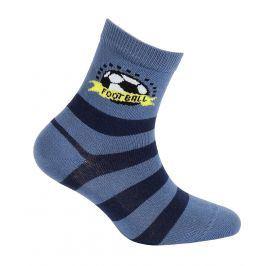 Chlapecké vzorované ponožky GATTA FOOTBALL modré Velikost: 21-23