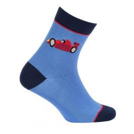 Chlapecké vzorované ponožky GATTA FORMULE modré Velikost: 27-29