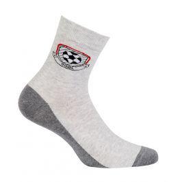 Chlapecké ponožky se vzorem GATTA GÓL šedé Velikost: 33-35