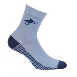 Chlapecké vzorované ponožky GATTA MOTORKA modré Velikost: 33-35