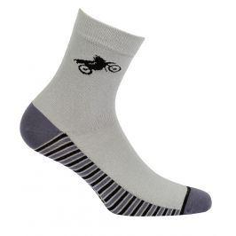 Chlapecké vzorované ponožky GATTA MOTORKA šedé Velikost: 33-35