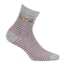 Dívčí vzorované ponožky WOLA KOČKA šedé Velikost: 36-38