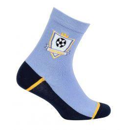 Chlapecké ponožky se vzorem WOLA FOTBAL modré Velikost: 27-29