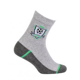 Chlapecké ponožky se vzorem WOLA FOTBAL šedé Velikost: 27-29
