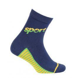 Chlapecké ponožky se vzorem WOLA SPORT modré Velikost: 27-29