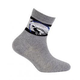 Chlapecké ponožky s obrázkem WOLA LEGENDARY tmavě šedé Velikost: 21-23
