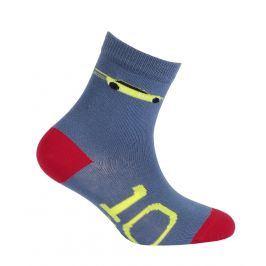 Chlapecké vzorované ponožky WOLA AUTO modré Velikost: 21-23