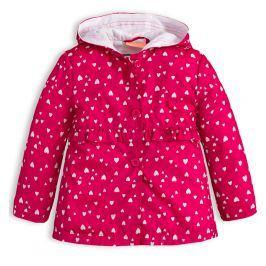 Dívčí jarní bunda KNOT SO BAD SRDÍČKA růžová Velikost: 62