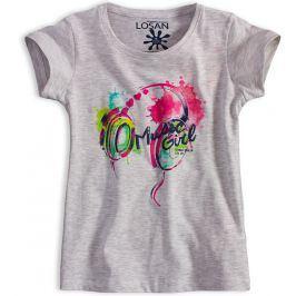 Dívčí tričko LOSAN MUSIC šedé Velikost: 152