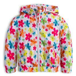 Dívčí jarní bunda LOSAN KYTIČKY bílá Velikost: 92