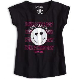 Dívčí tričko LOSAN SMILE černé Velikost: 128