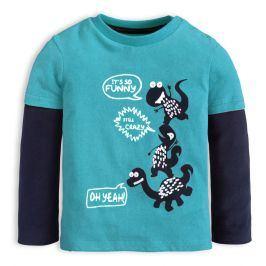 Chlapecké tričko KNOT SO BAD CRAZY DINO modré Velikost: 62