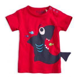 Dětské tričko KNOT SO BAD ŽRALOK červené Velikost: 62
