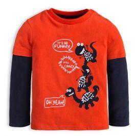 Chlapecké tričko KNOT SO BAD CRAZY DINO oranžové Velikost: 62