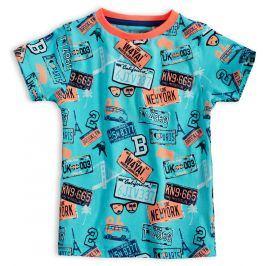 Dětské tričko KNOT SO BAD ROAD tyrkysové Velikost: 104