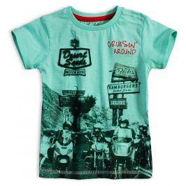 Chlapecké tričko KNOT SO BAD BIKERS tyrkysové Velikost: 92