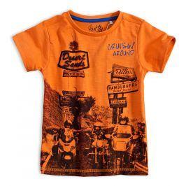 Chlapecké tričko KNOT SO BAD BIKERS oranžové Velikost: 92