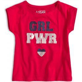 Dívčí tričko LOSAN GIRL POWER červené Velikost: 128