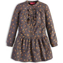 Dívčí šaty KNOT SO BAD LÍSTKY šedé Velikost: 128