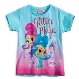 Dívčí tričko SHIMMER & SHINE GLITTER MAGIC tyrkysové Velikost: 98