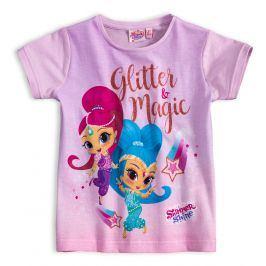 Dívčí tričko SHIMMER & SHINE GLITTER MAGIC lila Velikost: 98