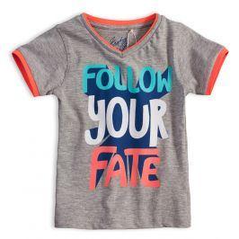 Dětské tričko KNOT SO BAD FOLLOW šedý melír Velikost: 92