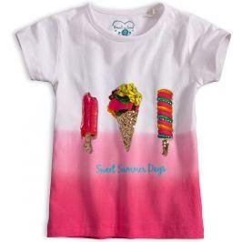 Dívčí tričko s flitry KNOT SO BAD SWEET SUMMER růžové Velikost: 98
