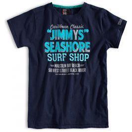 Chlapecké tričko s krátkým rukávem PEBBLESTONE SURF SHOP tmavě modré Velikost: 152