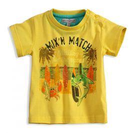 Chlapecké tričko Mix´nMATCH WAVES žluté Velikost: 92