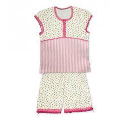 Dívčí letní pyžamo KEY DITSY bílé Velikost: 134