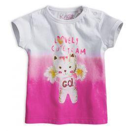 Dívčí tričko KNOT SO BAD CUTE TEAM růžové Velikost: 62