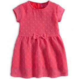 Dívčí šaty KNOT SO BAD LOVELY LOOK růžové Velikost: 62