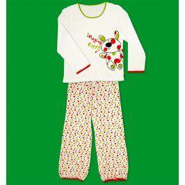 Dívčí pyžamo KEY PLAYING PUPPY bílé Velikost: 128