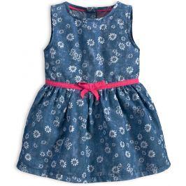 Kojenecké šaty KNOT SO BAD FLOWERS středně modré Velikost: 62