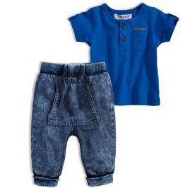 Dětská souprava BABALUNO SAFARI středně modrá Velikost: 62-68