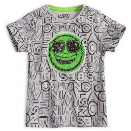 Chlapecké tričko s překlápěcími flitry LOSAN PLAYERS šedé Velikost: 92