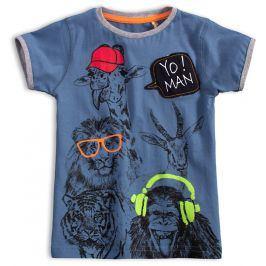 Dětské tričko KNOT SO BAD YO MAN modré Velikost: 92