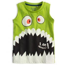 Chlapecké tričko bez rukávů KNOT SO BAD HUNGRY zelené Velikost: 92