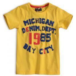 Chlapecké tričko MINOTI DENIM žluté Velikost: 98-104
