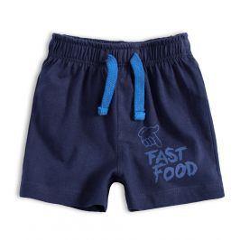 Kojenecké bavlněné šortky KNOT SO BAD FAST FOOD tmavě modré Velikost: 62