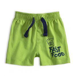 Kojenecké bavlněné šortky KNOT SO BAD FAST FOOD zelené Velikost: 62