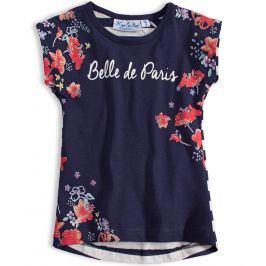 Dívčí tričko KNOT SO BAD PARIS modré Velikost: 92
