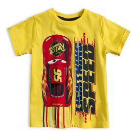 DISNEY CARS Chlapecké tričko DISNEY AUTA žluté Velikost: 98