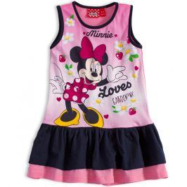 Dívčí letní šaty Disney MINNIE GARDEN modrý volán Velikost: 104
