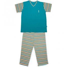 Dívčí pyžamo KEY STRIPES tyrkysové Velikost: 158