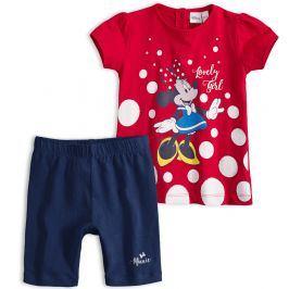 Dětská letní souprava Disney MINNIE LOVELY GIRL červená Velikost: 80