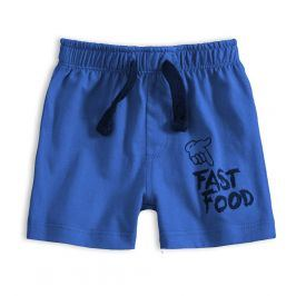 Kojenecké bavlněné šortky KNOT SO BAD FAST FOOD modré Velikost: 62